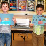 Emerson & Cameron from Longford Park School with their handiwork